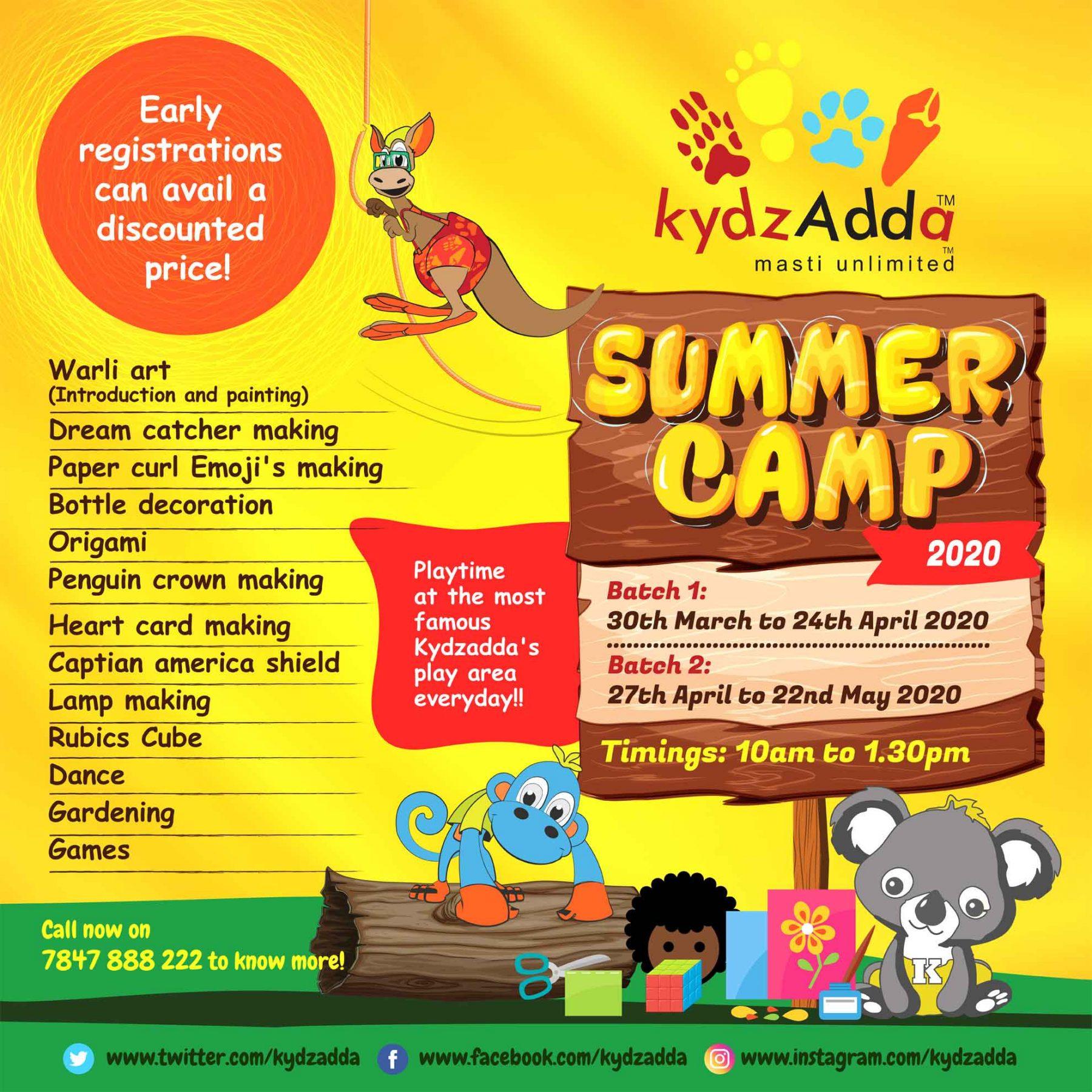 Summer camp 2020 - Batch 1 - Kydz Adda